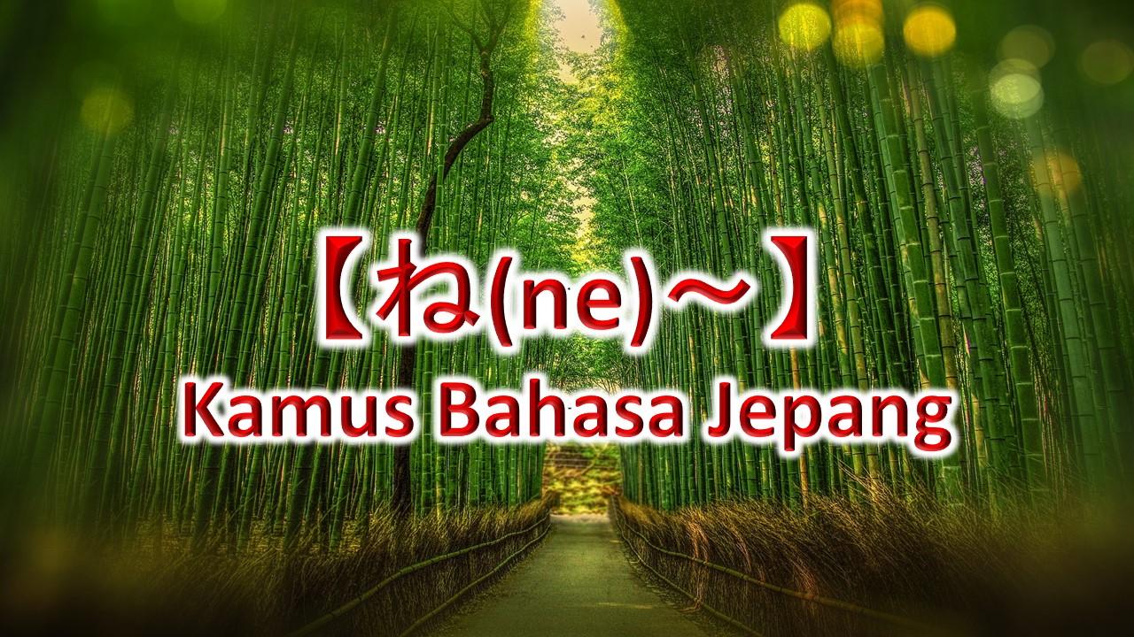 【ね(ne)~】Kamus Bahasa Jepang